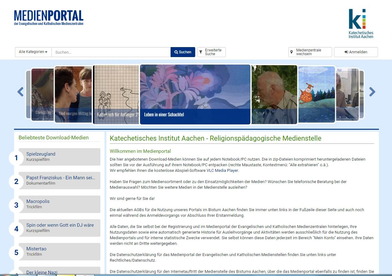 Medienportal Filmdownload (c) KI Aachen